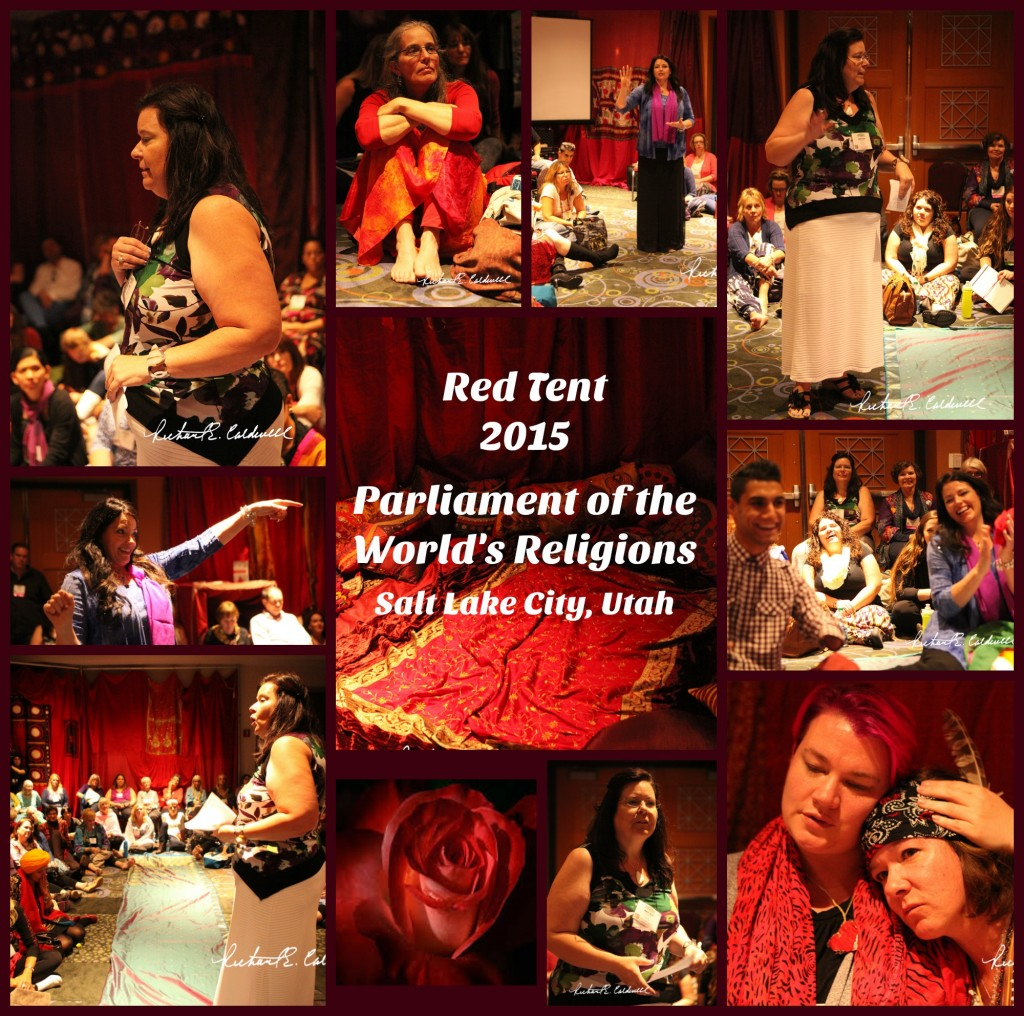 Red Tent Collage